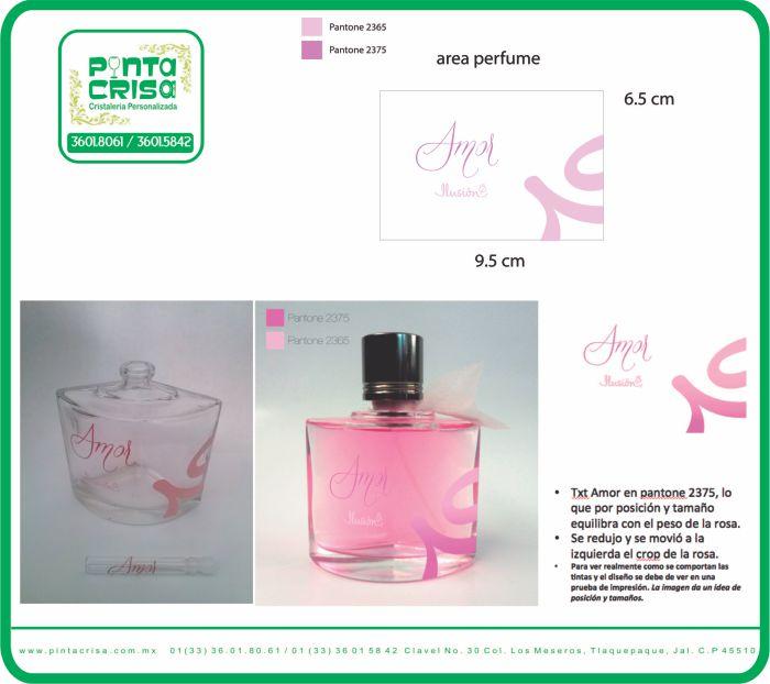 envase impreso de perfume